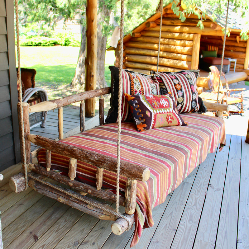 Great Camp Porch Swing Bed Adirondack Rustic Swing Bed