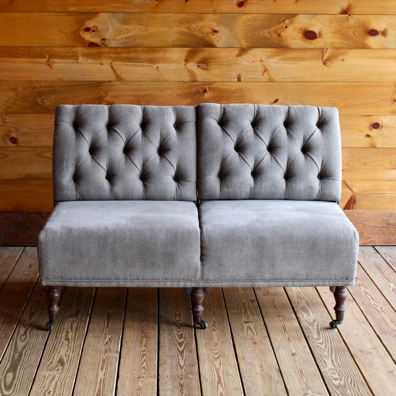 Convertible Tufted Linen Conversation Sofa