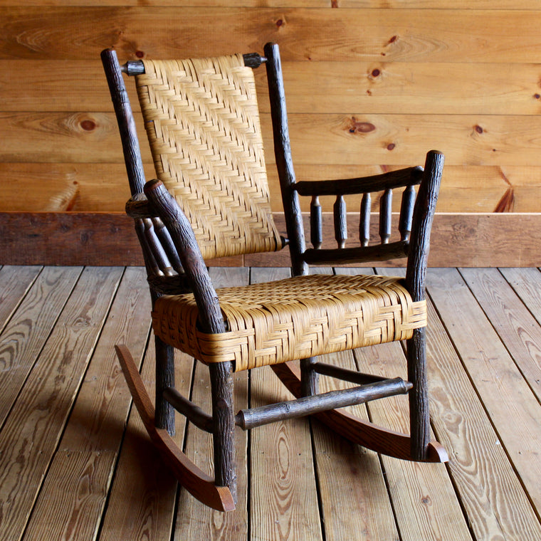 Keene Valley Rocker in Hickory and Splint