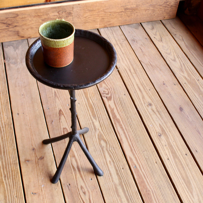 Black Iron Metal Branch Drink Table
