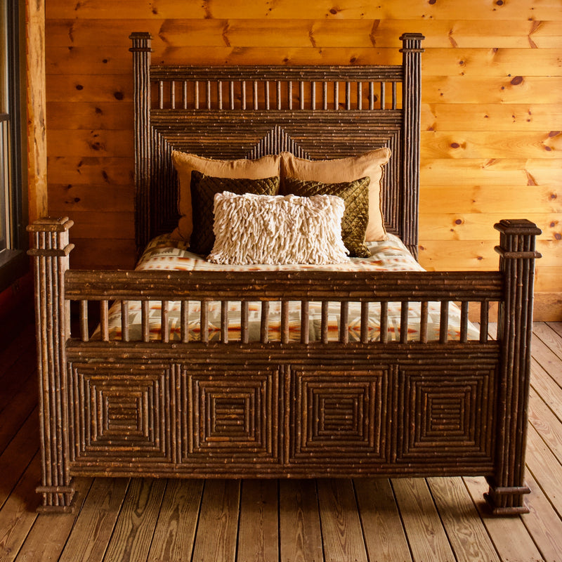 Great Camp Eco-Friendly Rustic Mosaic Bed