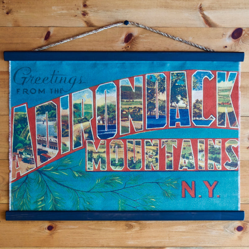 Greetings from the Adirondacks Canvas Wall Chart Poster