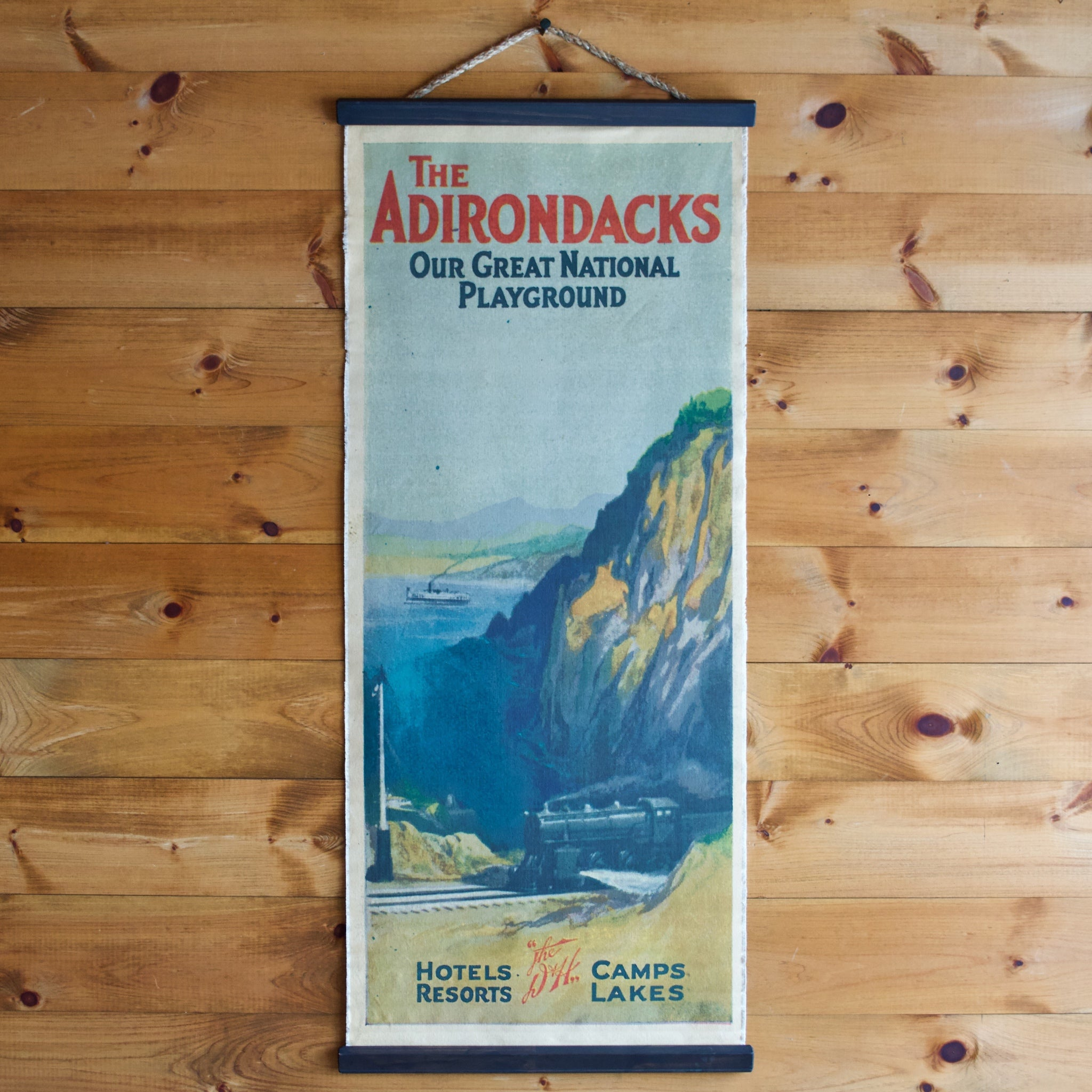 Adirondacks Travel Canvas Poster Wall Chart