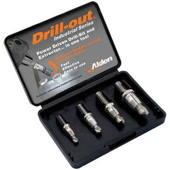 Alden 4017P Grabit® Drill-out Broken Bolt Extractor 4 Piece Kit