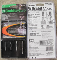 Alden 4507P Grabit® Micro Broken Bolt Extractor 4 Piece Kit