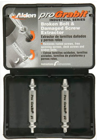Alden 8420P Grabit® Pro Broken Bolt and Damaged Screw Extractor 2 Piece Kit