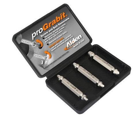 Alden 8430P Grabit® Pro Broken Bolt & Damaged Screw Extractor 3 Piece Kit