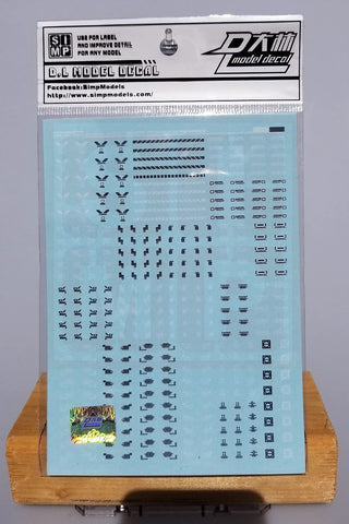 SIMP Model Gundam A01-1 General Design Warning Decal 1/100 06-00-A01-1