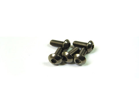Hiro Seiko M3x15 3mm Titanium Hex Socket Button Head Screw 69685 (4 pieces)