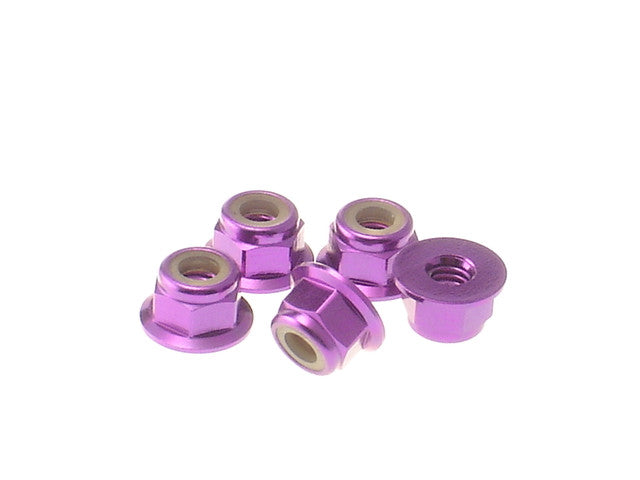 HIRO SEIKO Purple 4mm Alloy Flange Nylon Nut 69245