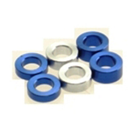 Hiro Seiko Tamiya Blue 3mm Alloy Shim Spacer Set 1.5t 2.0t 2.5t 69457