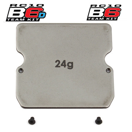 Team Associated B6 Steel Chassis Weight, 24g ASC91747