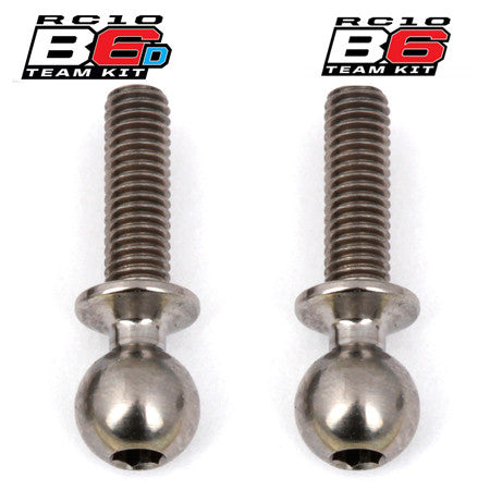 Team Associated B6 Factory Team Heavy Duty 10mm Titanium Ball Stud Set (2) ASC91753