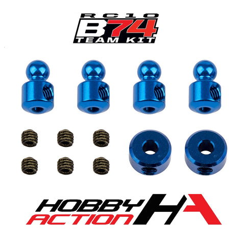 Team Associated RC10 B74 Anti-Roll Bar Hardware (Blue) ASC92164