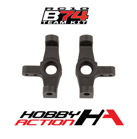 Team Associated RC10 B74 Steering Blocks (2) ASC92171