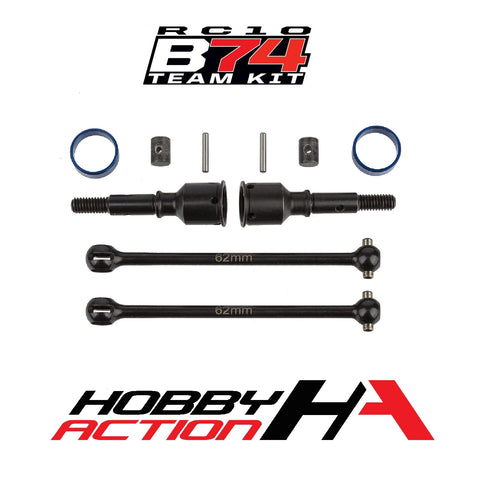 Team Associated RC10 B74 Rear CVA Set ASC92202