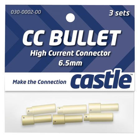 Castle 6.5mm High Current CC Bullet Connector Set CSECCBUL653