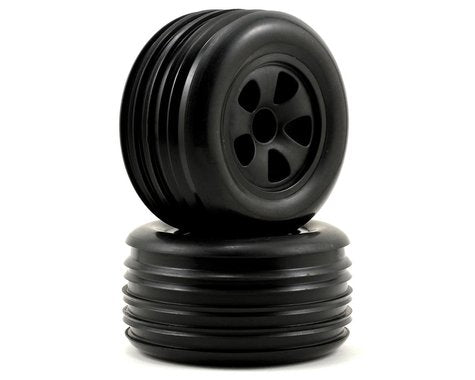 ECX Mounted Front Tire (2) Black Rib Circuit ECX1009