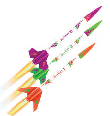 Estes 3 Bandits Mini Rocket Kit E2X Easy-to-Assemble EST2435
