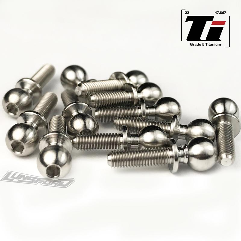 Lunsford Associated B6 Titanium Ball Stud Kit (12) LNS7703