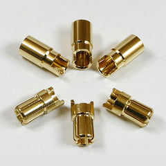 6mm Golden Plated Spring Connector (3 pairs)