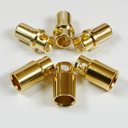 8mm Golden Plated Spring Connector (3 pairs)