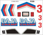 PineCar #P330 Baja Champ Custom Parts With Decals