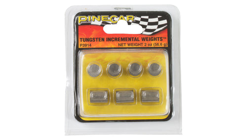 PineCar Tungsten Incremental Weights Cylinder 2 oz P3914 Pinewood Derby Car