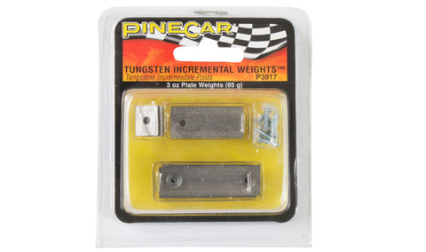 PineCar Tungsten Incremental Weights Plate 3 oz P3917 Pinewood Derby Car