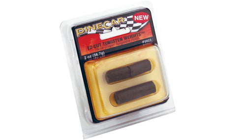 PineCar EZ-Cut Tungsten Weights P3923 Pinewood Derby Car