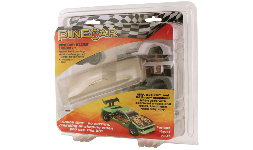 PineCar #P3945 Furious Racer Premium Kit Car Block Deluxe Racer Kits