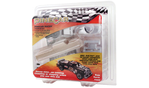 PineCar #P3946 Baja Racer Premium Kit Car Block Deluxe Racer Kits