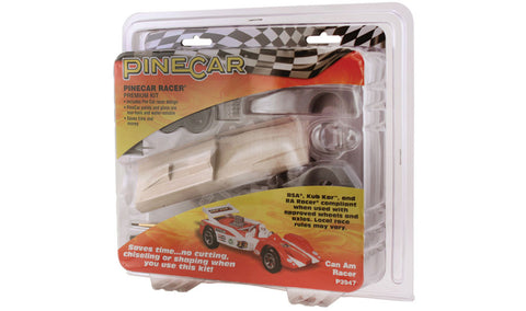 PineCar #P3947 Can Am Racer Premium Kit Car Block Deluxe Racer Kits