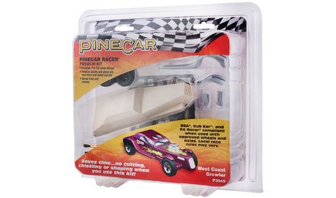 PineCar #P3949 West Coast Growler Premium Kit Car Block Deluxe Racer Kits