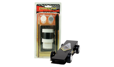 PineCar #P3956 Complete Paint System Stealth Black