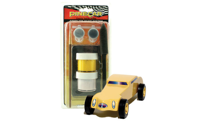 PineCar #P3959 Complete Paint System Cosmic Yellow