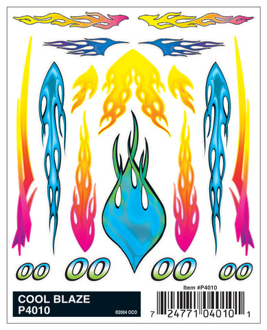 Pinecar #P4010 Cool Blaze Dry Transfer Decals