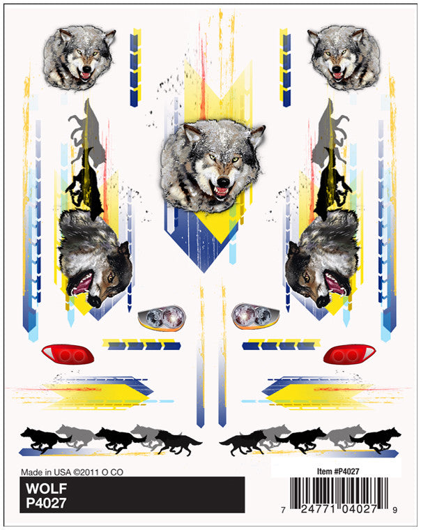 PineCar #P4027 Wolf Dry Transfer Decals