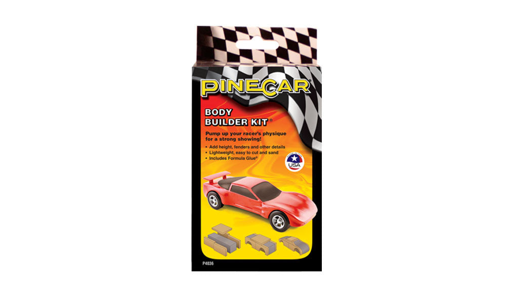 PineCar #P4036 Body Builder Kit Car Blocks