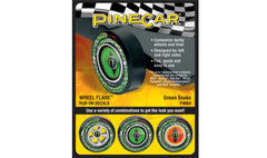 PineCar #P4064 Green Snake Wheel Flare Dry Transfer Decals