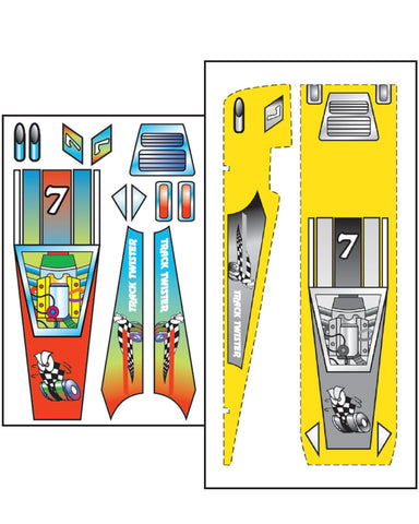 PineCar #P475 Track Twister Template and Decals