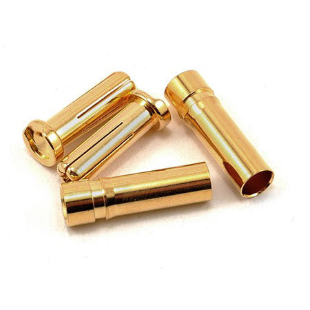 ProTek RC 5.0mm Super Bullet Solid Gold Connectors PTK-5024