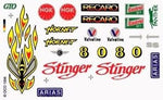 PineCar #P311 Stinger Dry Transfer Decals Decals