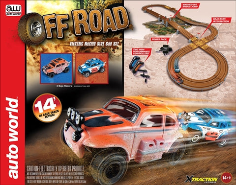 Auto World Off Road X-Traction Ultra-G Slot Race Set 14' RDZSRS328