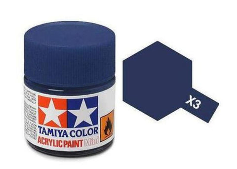 Tamiya X-3 Gloss Royal Blue Acrylic Paint Mini 10ml (1/3oz) TAM81503
