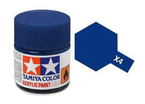 Tamiya X-4 Gloss Blue Acrylic Paint Mini 10ml (1/3oz) TAM81504