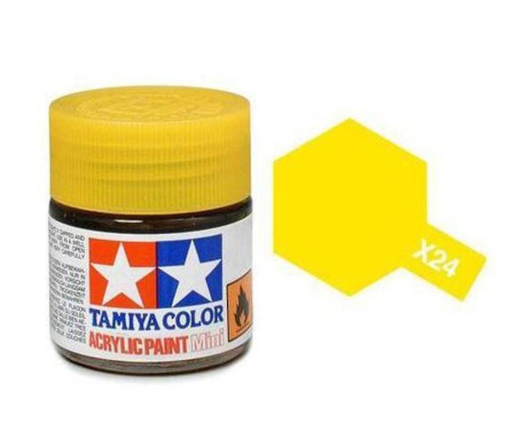 Tamiya X-24 Gloss Clear Yellow Acrylic Paint Mini 10ml (1/3oz) TAM81524