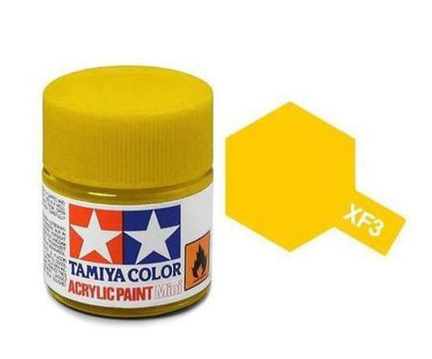 Tamiya XF-3 Flat Yellow Acrylic Paint Mini 10ml (1/3oz) TAM81703