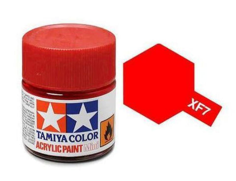 Tamiya XF-7 Flat Red Acrylic Paint Mini 10ml (1/3oz) TAM81707