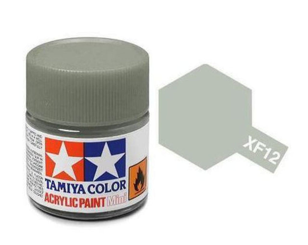 Tamiya XF-12 Flat J. N. Grey Acrylic Paint Mini 10ml (1/3oz) TAM81712
